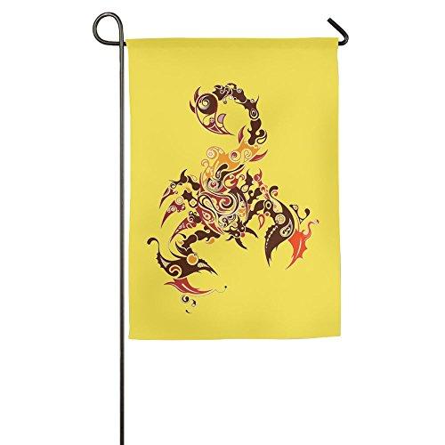 Hattgg Inspirational Scorpion Animal Season Patio Yard House Garden Flags 12 X 18 All-Weather Polyester Emblemize