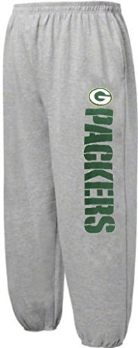 (Green Bay Packers NFL Critical Victory Mens Majestic Gray Sweatpants Big & Tall Sizes (3XL))