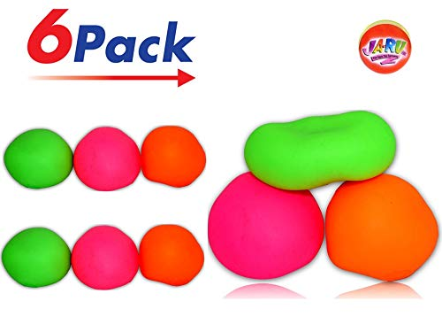 Squishy Ball | Bounce Stress Ball Pull and Stretch Fun Toys to Play with friends | Item #401 (Pack of 6) ()