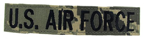 Air Force Digital Branch Tapes for ABU Uniforms with Hook Fastener