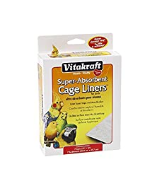 VITAKRAFT 512071 7-Pack Super Absorbent Cage Liners for Birds, 20\
