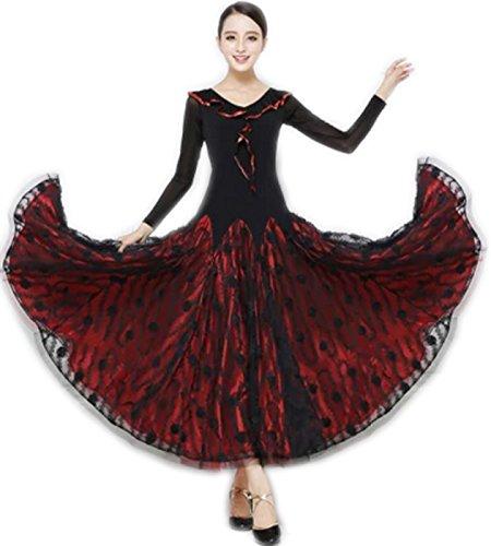 【人気急上昇】 garuda B075B6V4HF garuda 社交ダンス サイズM ドレスダンス衣装 赤色トッド柄豪華競技レディースワンピース サイズオーダー可 B075B6V4HF サイズM, カー用品のcarpy:c484618e --- a0267596.xsph.ru