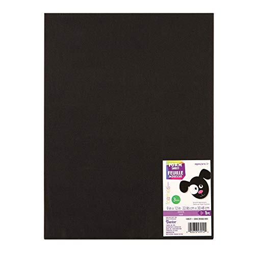 Bulk Buy: Darice Foamies Foam Sheet Black 3mm thick 9 x 12 inches (10-Pack) 1189-27