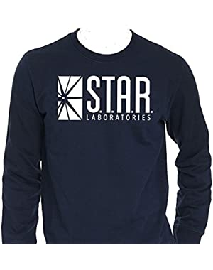 Star Laboratories Star Labs Long Sleeve Shirt Crew Neck S.T.A.R Labs - Premium Quality