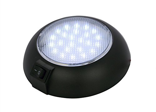 - LED Dome Lamp - High Power White LED Downlight - 12 Volt - Fixed Mount - for Home, Auto, Truck, RV, Boat and Aircraft