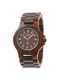 Wewood Men's Date DATE-BROWN Brown Wood Analog Quartz Watch with Brown Dial