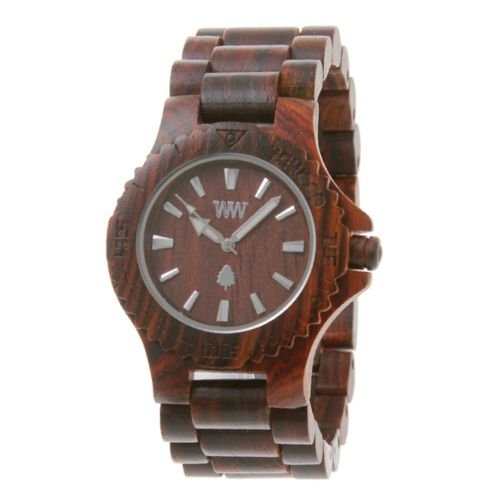 Wewood Men's Date Brown Wooden Watch by WeWood