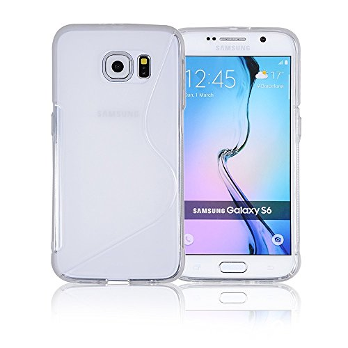 Galaxy S6 Case, Galaxy s6 Cases | Compatible- Samsung Galaxy s6 SIV S IV i9600 - Custom Pretty Wallet Thin Soft Gel Shell Cover Skin Phone Case by Cable and Case | Not Edge Compatible - Clear White