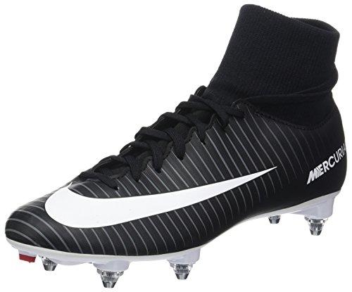 Nike Mercurial Victory VI DF SG, Scarpe da Calcio Uomo Nero (Black/White/Dk Grey/Univ Red)