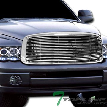Chrome Horizontal Sport Front Hood Bumper Grill Grille Dodge Ram Truck (Front Grill Sport)