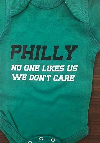 Eagles baby onesie no one likes us we don't care future philadelphia football fan