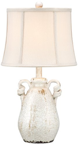 Sofia Ivory Ceramic Table Lamp (Porcelain Jar Lamp)