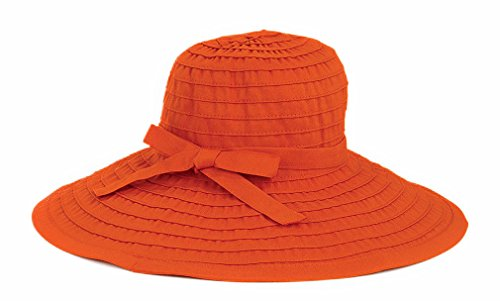 (San Diego Hat Ribbon Hat With Large Brim And Bow (One Size - Rust))