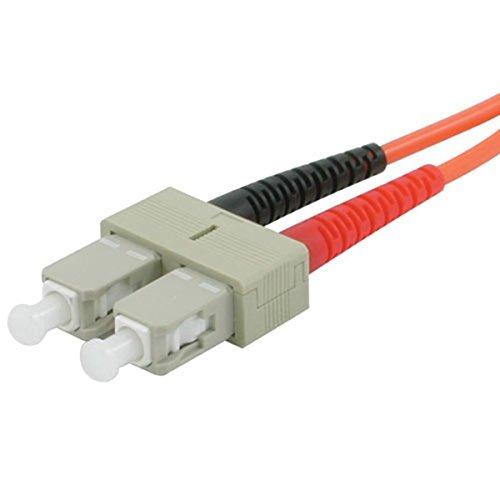 C2G/Cables to Go 09134 SC-ST 62/125 OM1 Duplex Multimode PVC Fiber Optic Cable, Orange (5 Meter) by C2G