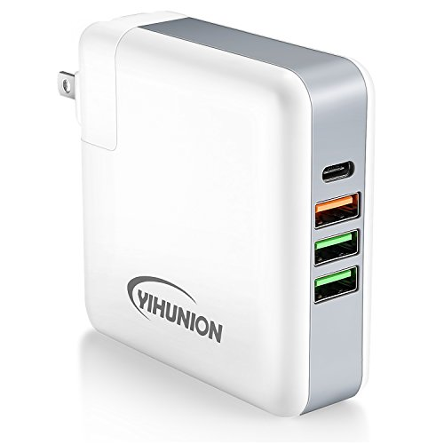 USB Type C Charger - YIHUNION 61W 4-Port Wall Charger Statio