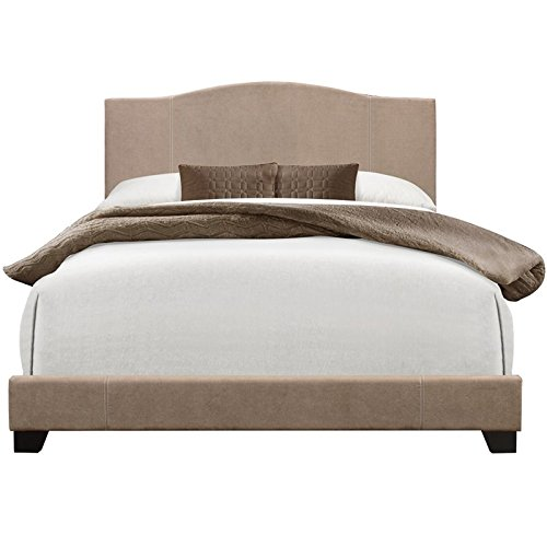 Pulaski DS-D122-291-229 Home Comfort Modified Camel Back Upholstered King Size Platform Bed 81.5