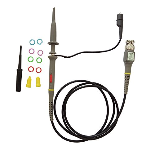 Oscilloscope Probes 100 MHz with Accessories Kit P6100 High Sensitivity Oscilloscope Clip Probe 10x Switchable with Mini Alligator and Ground Lead 600V DC Lab Oscilloscope