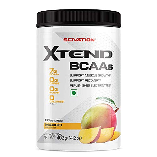 Scivation Xtend BCAA Powder, Branched Chain Amino Acids, BCAAs, Mango Madness, 30 Servings