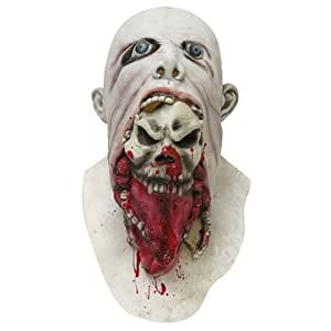 Halloween Party Home Decoration Horror Rotten Bloody White Mask Props Toys Supply For Kids Gift by Aroundstore