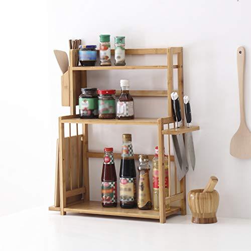 Kitchen Storage Shelf Racks Storage Basket Shelf Baskets Bamboo Household Spice Rack Kitchen Multifunction Tool Holder Multiple Choices ZHAOYONGLI (Size : 521860cm) by ZHAOYONGLI-shounajia (Image #6)