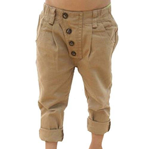 Weixinbuy Baby Kid Boy Casual Pencil Straight Pants Trousers 5-6T