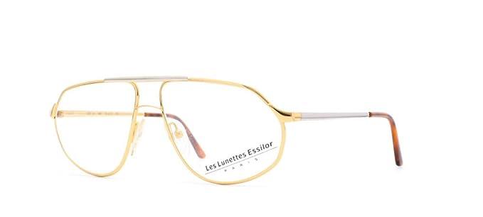 c359b896058 Image Unavailable. Image not available for. Color  Essilor 201 12 Gold  Authentic Men Vintage Eyeglasses Frame