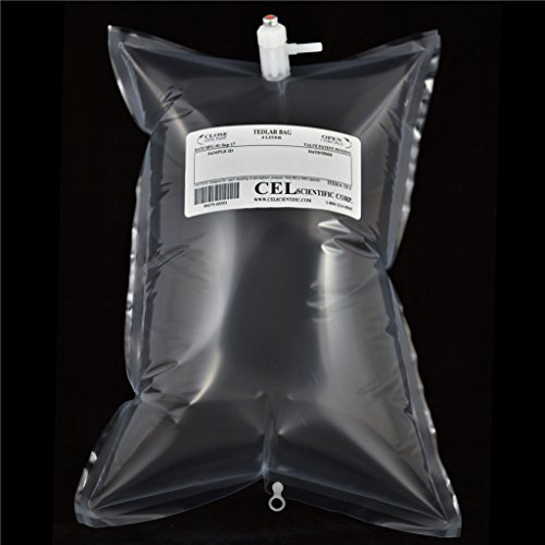 (Tedlar Bag 3L - Air Sampling - Gas Sampling - PVF film - Polypropylene fitting valve (Pack of 10))