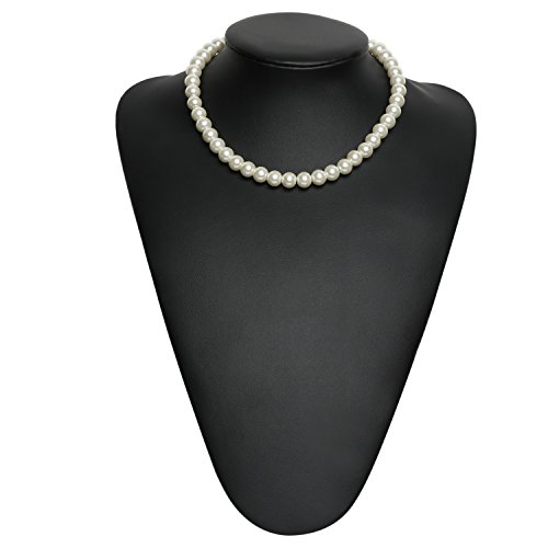 BABEYOND Round Imitation Pearl Choker Necklace Wedding Pearl Necklace for Brides White (Diameter of Pearl (Imitation Pearl Necklace)