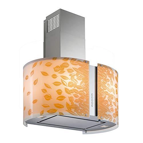Futuro Futuro Murano Autumn LED 27 Inch Wall-mount Range Hood, Unique Designer Glass, Ultra-Quiet, with Blower