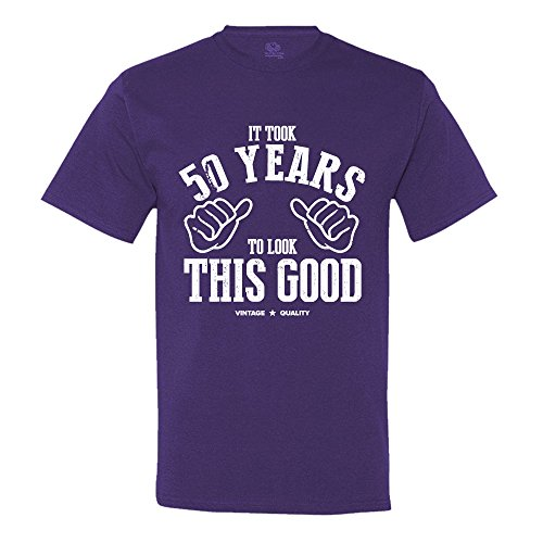 It Took 50 Years To Look This Good - 50th Birthday - Birthday Present - Gift - Turning 50 Men's T-Shirt XXXX-Large Purple