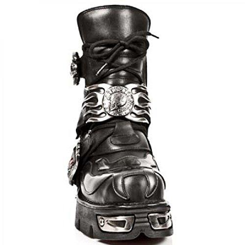 Nuovi Stivali Di Roccia M.188-c1 Gotico Hardrock Punk Unisex Stiefel Schwarz