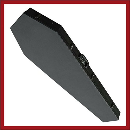 Coffin Case CF-300VXBK Extreme Guitar Case, Black Velvet