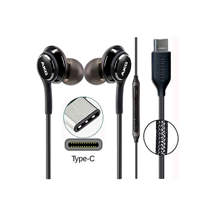 GLITZY GIZMOS Genuine Official Samsung AKG Earphones Headphones for Samsung Note 10 / Note 10+ Plus / S10 With Type C…