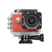 SJCAM SJ5000X Elite Action Camera 4K 24fps 1080P WiFi 2.0 LCD 12MP SONY IMX078 Gyro Sports Waterproof Cam DV/VCR/CAR/DVR Camcorder HDMI Out And OSD Enabled for Motorcycle Diving Swimming (Red)