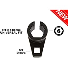 A ABIGAIL 3/8-Inch Drive by 7/8-Inch (22 mm) Offset Oxygen Sensor Socket-Universal Puller and Removal Tool