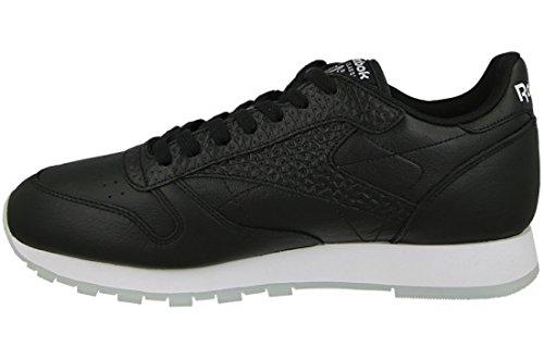 Reebok Classic Leather Id Uomo Sneaker Nero Nero-bianco