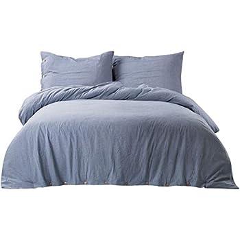 Amazon Com Bedsure 100 Washed Cotton Duvet Cover Sets