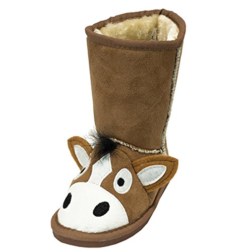 182f6bdce037 Boot Cute Animal Character Slippers for Kids by LazyOne