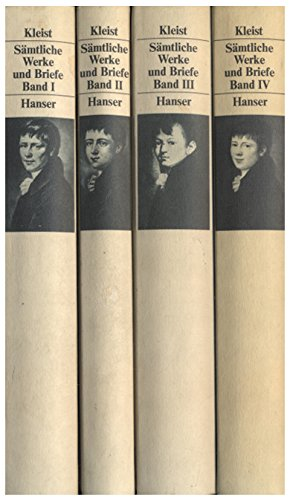 Sämtliche Werke und Briefe in vier Bänden Gebundenes Buch – Oktober 1986 Helmut Sembdner Heinrich von Kleist Hanser 3446135499