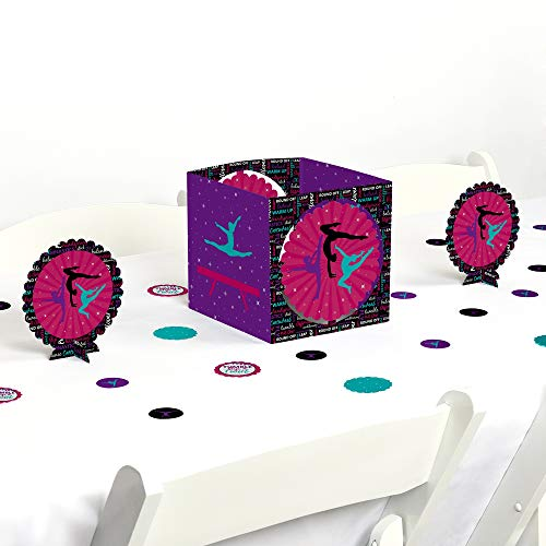 (Big Dot of Happiness Tumble, Flip & Twirl - Gymnastics - Birthday Party or Gymnast Party Centerpiece & Table Decoration)