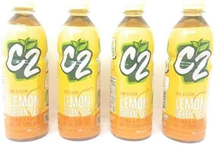 C2 Lemon Green Tea 500ml, 4 Pack