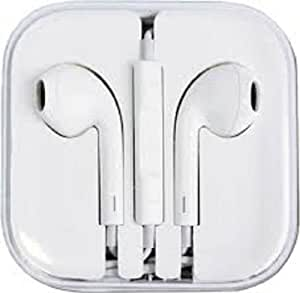 QCMD Earphone Headphones with Remote and Mic for Apple Iphone 5 4s Ipad4 3 2 1 Pod-1 Piece (White)