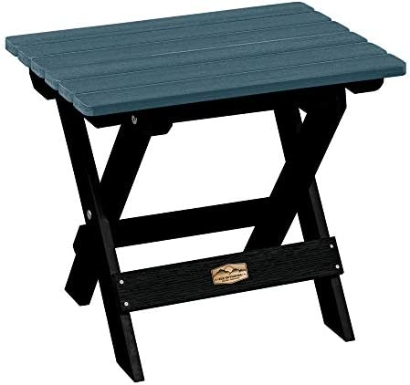 Elk Outdoors EO-TBS1-SHL The Essential Folding Side Table, Shale