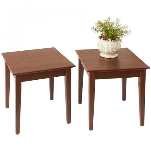 Manchester Wood Stacking Shaker Side Table Set of 2 - Chestnut