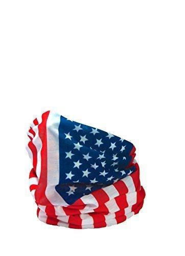 Ruffnek copricapo multifunzione/scaldacollo con bandiera USA/stelle e strisce, per uomo, donna & bambini RUFFNEK®