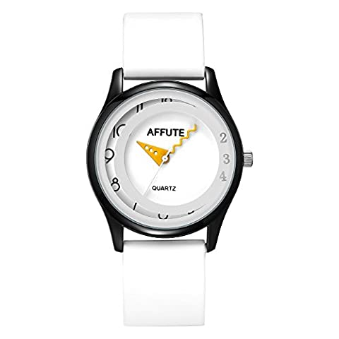 Tamlee Fashion Simple Colorful Silicon Rubber Strap Waterproof Unisex Jelly Thin Quartz Wrist Watches for Men Women (Sport Watches Womens White)