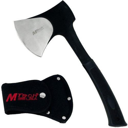 M-tech Usa Traditional Stainless Steel Camping Axe – Black Hatchet, Outdoor Stuffs