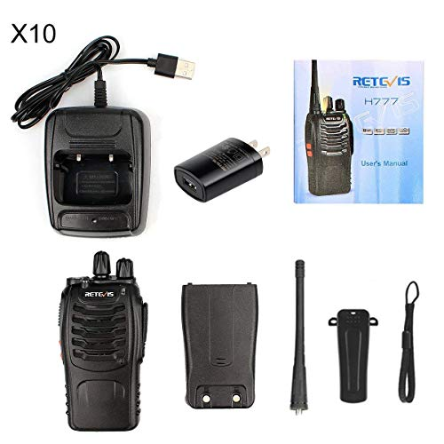 Retevis H-777 Two Way Radios UHF Radio 2 Way Radios Fast and Safe USB Rechargeable 16CH Radio Walkie Talkies (10 Pack) by Retevis (Image #6)