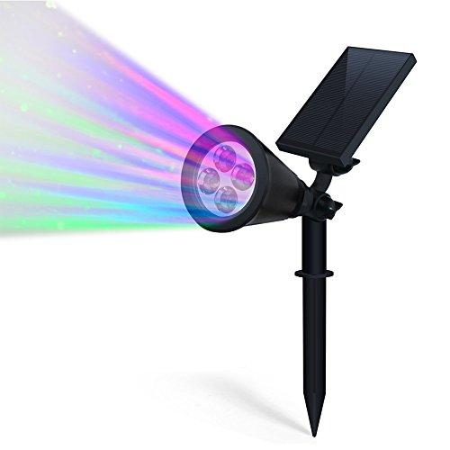 MAIKEHIGH Solar Light, Einstellbarer Solar-LED-Outdoor-Scheinwerfer, super helle Wandleuchte , Außen Landschaft Licht, wasserdichte Sicherheit Nachtlicht (Farbe ändern)