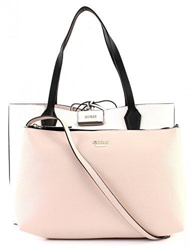 Damen Indovinare Hwvg6422150 Shopper, 15x22x32 Cm Più Bianco / Taupe (bianco / Rosa)